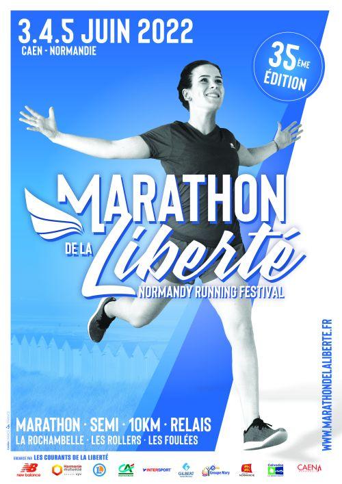 Normandie Course à Pied Calendrier 2021 Marathon de la Liberté   13 juin 2021, Caen (14)   Course à pied