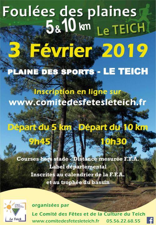 Calendrier Course A Pied 2020.Foulees Des Plaines Le 2 Fevr 2020 Le Teich 33 Course