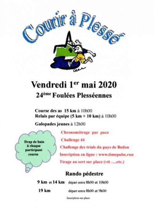 Foulées Plesséennes   1 mai 2021, Plesse (44)   Course à pied